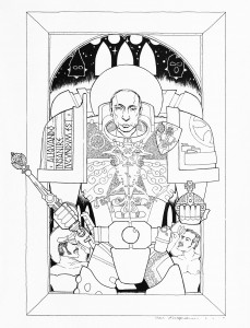 Emperor (2014) felt pen on paper