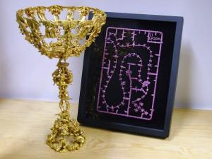 Reliikit (2010-2013) plastic miniatures, acrylic paint, gold leaf